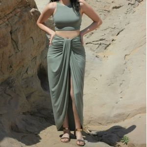 Dresses & Skirts - Sexy Olive Green maxi Skirt